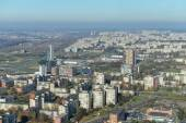 City view from television tower — Stock Photo