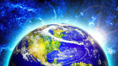 Colorful planet Earth — Stock Photo