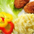 Roasted cutlets and vegetables — Stock Photo #69211393