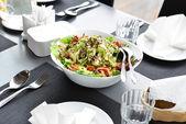 Tasty salad on plate — Stock Photo