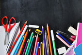 Notebooks and other  school supplies — Stock Photo