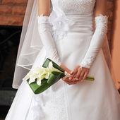 невесты носить свадебное платье — Стоковое фото