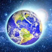 Planet earth furnished by NASA — Stock Photo