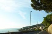 Road near sea coast — Stockfoto