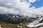 Berggipfel begrenzt — Stockfoto
