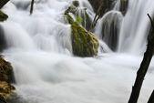 Beautiful waterfalls in mountains — Stock Photo