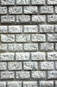 Wall with decorative gray brick styled closeup — Stock Photo