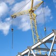 Tower crane on industrial building construction — Stock Photo #70058153