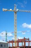 Башенные краны на промышленное строительство — Стоковое фото