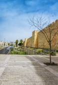 Jerusalem. Israel. The fortress wall. — Stock Photo