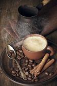 Koffie stilleven — Stockfoto