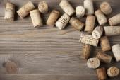 Assorted wine corks — 图库照片