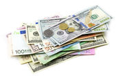 Various currencies — Stock Photo