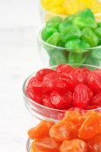 Colorful candied fruits — Stock Photo
