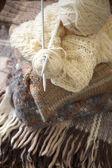 Stack of woolen garment — Foto Stock