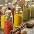 Spices in bottles — Stock Photo #55941897