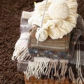 Stack of woolen garment — Stock Photo