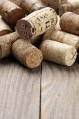 Assorted wine corks — Stockfoto