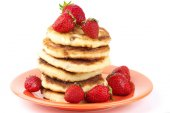Cottage cheese pancakes — Stock Photo