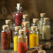 Spices in bottles — Stock Photo #58401737
