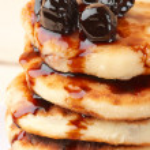Cottage cheese pancakes — Stock Photo #58401811