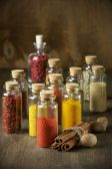 Spezie in bottiglie — Foto Stock