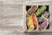 Assorted natural soap — Stock Photo