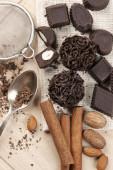 Homemade chocolate candies — Stock Photo
