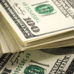 Dollars stack close-up — Stock Photo #58756863