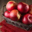 Red apples in basket — Stock Photo #61542331