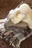 Stack of woolen garment — Foto de Stock