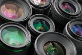 Verious photo lenses — Stock Photo