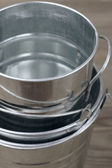 Galvanized buckets — Stock Photo