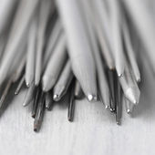 Set of knitting needles close-up — Stock Photo