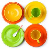Colorful crockery — Stock Photo