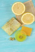 Various natural soaps — Foto Stock