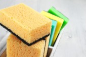 Cleaning sponges — Stock Photo