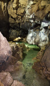 Underground river in cave — Stock Photo