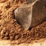 Cocoa mass and cocoa powder — Stock Photo #71747503