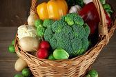 Various vegetables in basket — Stock Photo
