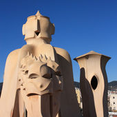 Gaudi Chimneys, Barcelona — ストック写真