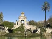 The park's fountain. Barcelona, Spain.  — Stock Photo