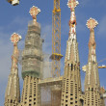Sagrada Familia Temple in Barcelona — Stock Photo #64439445