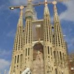 Sagrada Familia Temple in Barcelona — Stock Photo #64439627