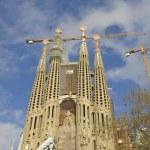 Sagrada Familia Temple in Barcelona — Stock Photo #64439813