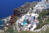 Arquitetura na ilha de santorini, grécia — Fotografia Stock