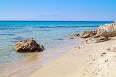 The famous beach at Halkidiki Peninsula, Greece — Stock Photo