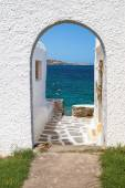 Panoramic view on Mykonos island, Greece — Stock Photo