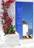 Traditional architecture on Mykonos island, Greece — Stock Photo