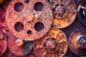 Aged rusty gear wheels — Stock Photo
